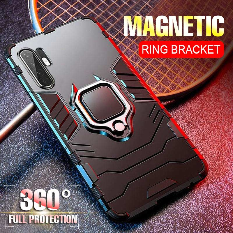 Luxury Magnetic Kickstand Car Holder Ring Case On The For Huawei P30 P20 Pro Case Cover Shockproof For Huawei P20 P30 Lite Case