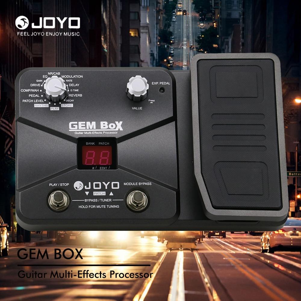 JOYO Guitar Multi-Effects Processor 60 Effects 8 Simultaneous 40 Drum Rhythm Assignable Expression Pedal GEM BOX