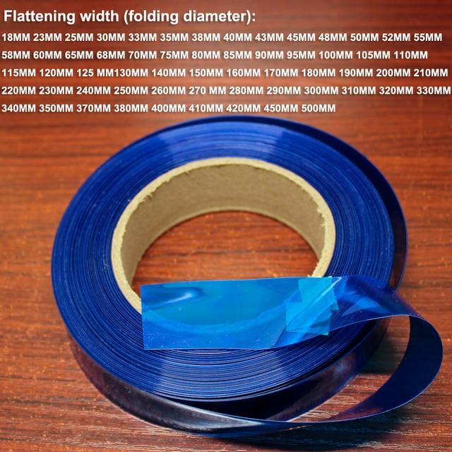 Emballage de batterie au lithium, film de remplacement de la peau, batterie bricolage, manchon thermorétractable en PVC, 1 kg, 18650