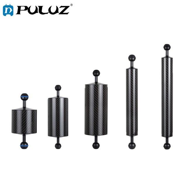 PULUZ Carbon Faser Float Auftrieb Aquatische Arm Dual Ball Schwimm Arm Tauchen Kamera Unterwasser Tauchen Tablett für Gopro/Smartphones