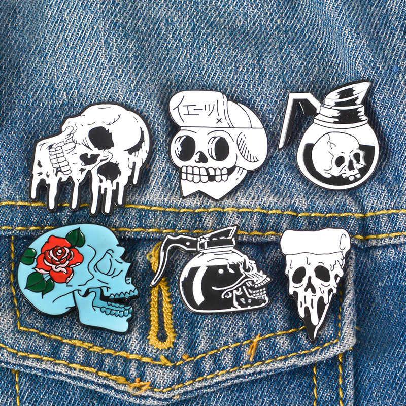 Logam Bros Kerah Paduan Bros Kemeja Jeans Tas Lencana Di Ransel Pin