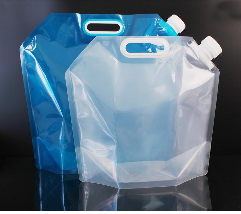 Envío gratis 10L 5L 3 Capacidad de la bolsa de agua plegable para acampar al aire libre cubo ligero ligero insípido sello de seguridad B1