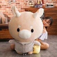 BABIQU 1pc 60cm Super Giant Korean Drama Jin Secretary Hard Cow Stuffed Plush Doll Cute Cattle Toy New Arrive animal TV Kid Gift