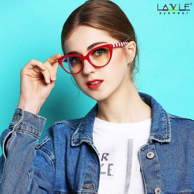 2018 New Design Handmade Acetate Computer Glasses Eyewear Frames Young Girls  Anti Blue Rays Lenses Spectacle Computer Glasses