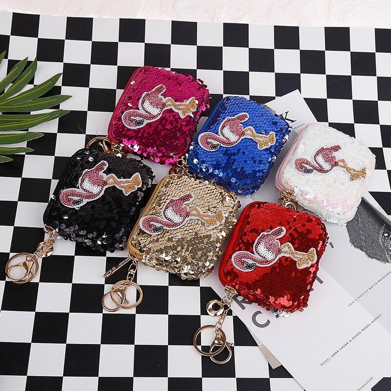 Junlead Sparkly sequines women Butterfly coin purse pocket change wallet  for girls Key Chains cute kawaii card holder Coin PurseUSD 4.25 piece. 13  ... 51d9d90ba137