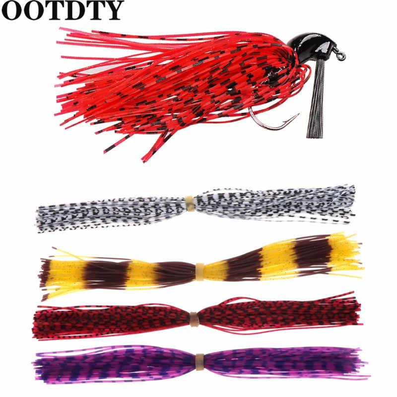 OOTDTY 1 مجموعة السواحل الصيد التنانير سمك لوري الطعم سبينر سيليكون لتقوم بها بنفسك اكسسوارات الصيد التنانير