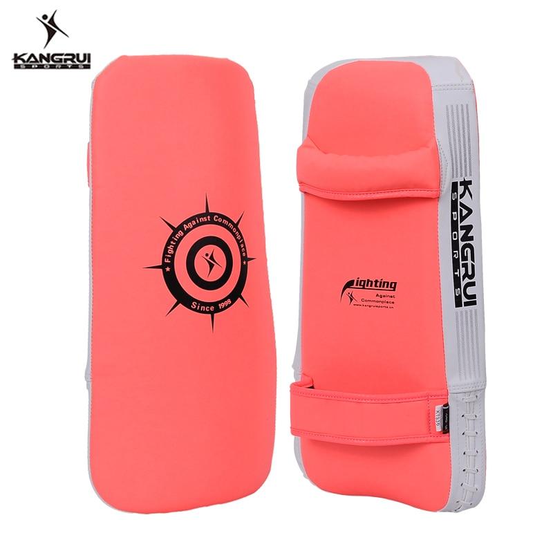 Pu Leather Fitness Taekwondo Kick Pad Target Kick Boxing Armguard Foot Target Hands Protector Hand-target Armfuls Arc Armguards Boxing
