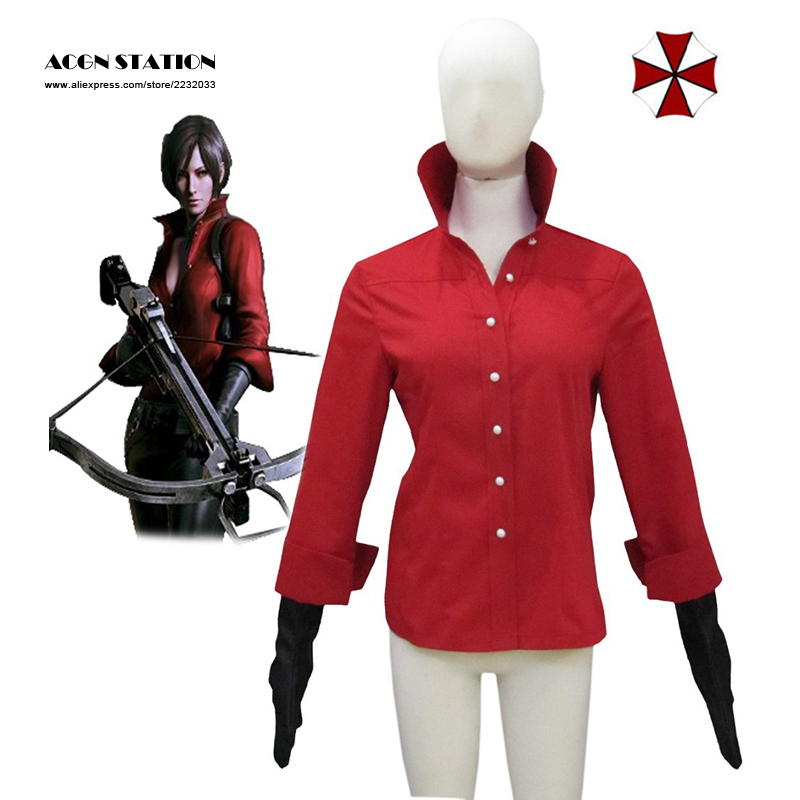 2018 Hot Selling Costume Resident Evil 6 Ada Wong Red Shirt Cosplay Costume  For Kid Customize for plus size adults and kids-in Anime Costumes from  Novelty ...