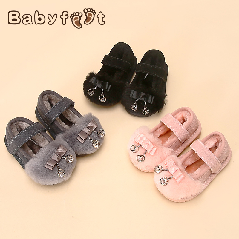 Babyfeet Winter children flat lazy shoes slip on bowtie 0-3 Years old baby girl infant sneakers princess loafers Toddler shoes babyfeet newborn baby boy shoes toddler sandals leather non slip kids shoes 0 1 years old boy girl children infant infantile