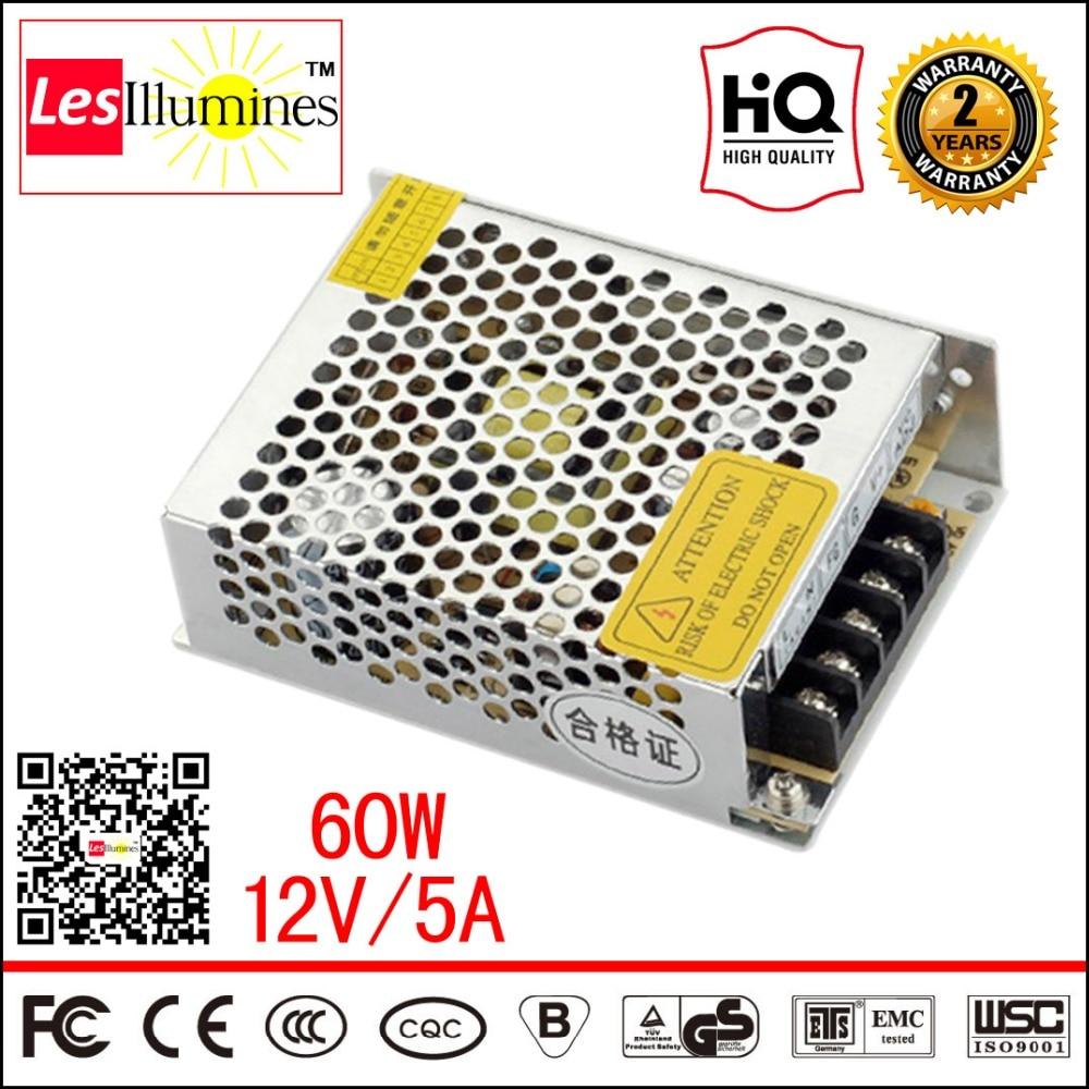 S-60-12 NES 12V 5 Amp LED Strip Driver Adapter AC DC Transformer PSU Voltage Regulator 12 V 60W Switch 12V Power Supply 5A dc power supply 36v 9 7a 350w led driver transformer 110v 240v ac to dc36v power adapter for strip lamp cnc cctv