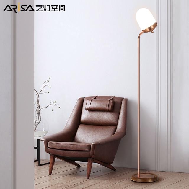 Nordic LED retro Floor lamps modern living room lights Iron art ...