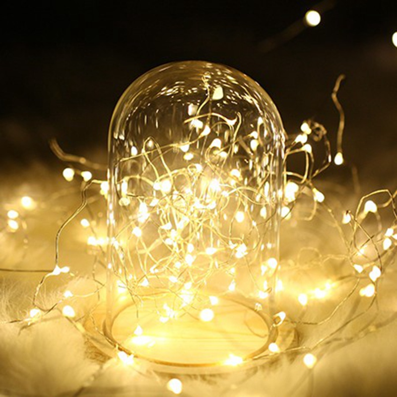 1-10M Copper Wire LED String lights night light Holiday lighting For Garland Fairy Christmas Tree Wedding Party Decoration