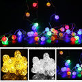 33FT 10M 38PCS Rattan Ball LED String Lights AC 110V/220V Holiday Christmas Wedding Party  White/Warm White/Colourful Xmas Light