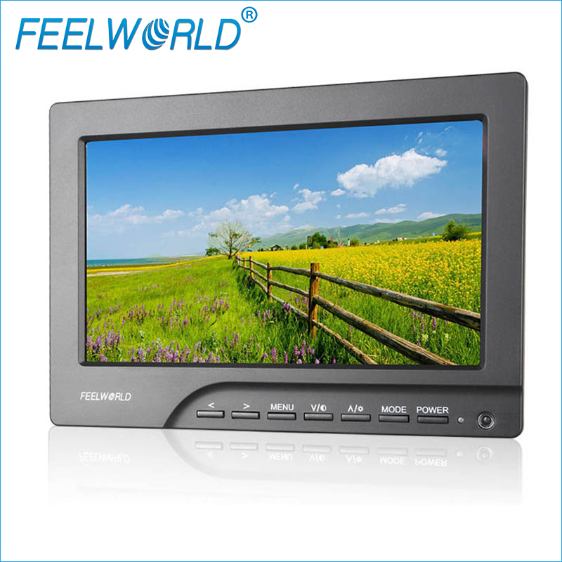 FW689-HD 7 Inch Field Monitor with Peaking Focus Assist HDMI And VGA Feelworld Photography Studio Camera External LCD Monitors aputure vs 5 7 inch sdi hdmi camera field monitor with rgb waveform vectorscope histogram zebra false color to better monitor