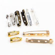 50pcs/lot 15/20/25/30/35mm Length Safety Pins Brooch Settings Blank Base for Making Wedding Bouquet Brooch DIY Findings