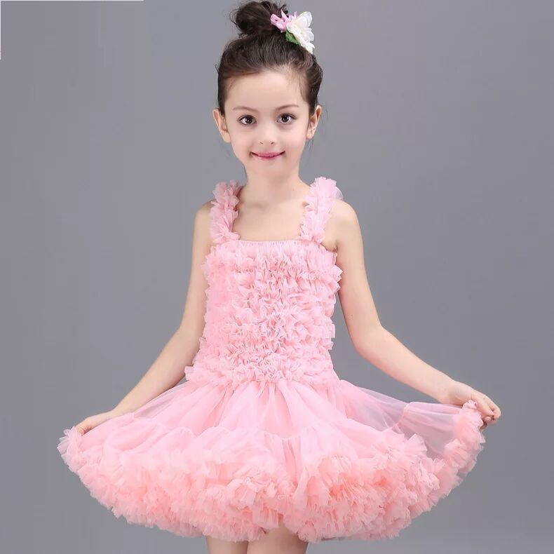 2017 new style petals princess dress by hand ball gown lolita style girls dress show evening and ballet dance children dress