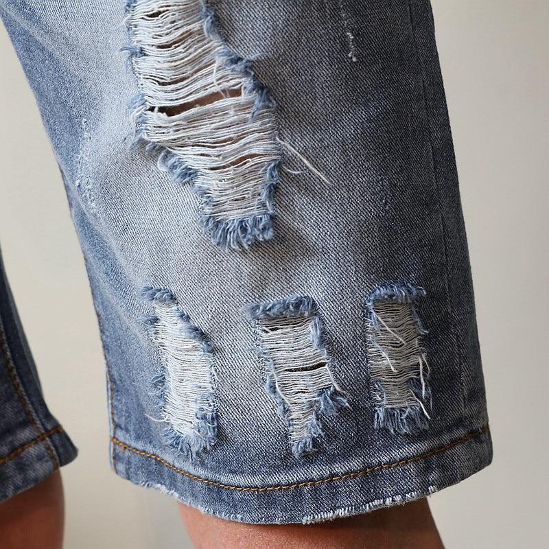 VERSMA Denim Mens Skinny Jeans Men Denim Shorts Male Bermuda Ripped Skinny Jeans for Men Stretch Slim Fit Mens Destroyed Jeans