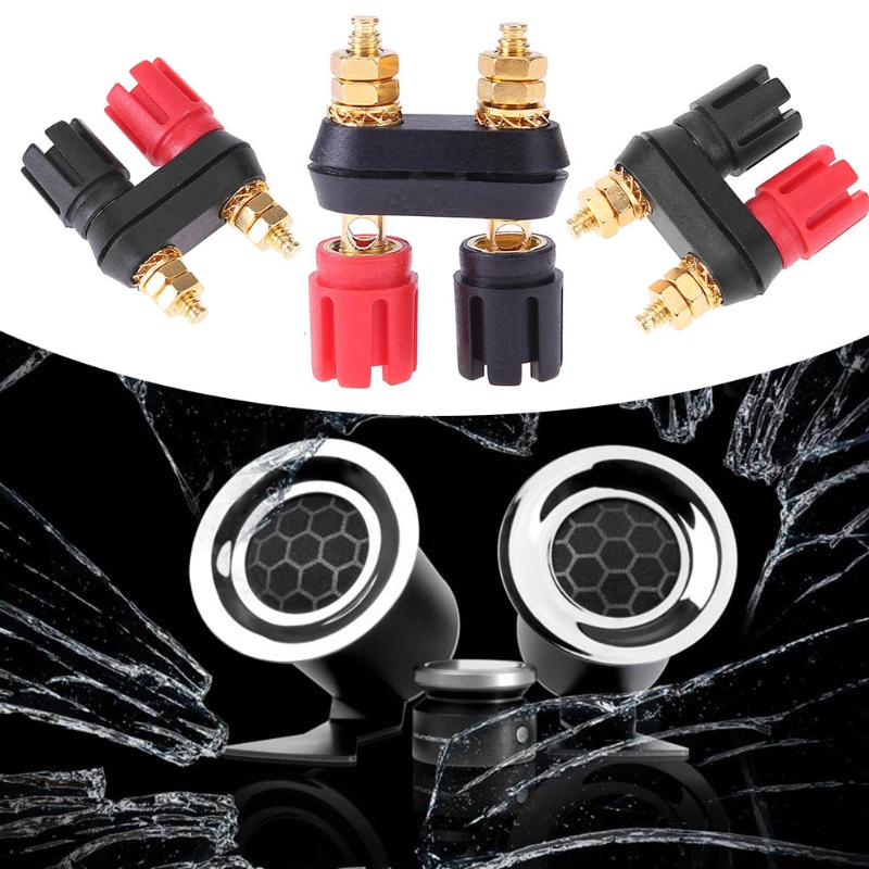 New Hot Quality Banana plugs Couple Terminals Red Black Connector Amplifier Terminal Binding Post Banana Speaker Plug Jack Tools wsfs hot sale new 20pcs practical plastic silver plated connector audio banana speaker plug