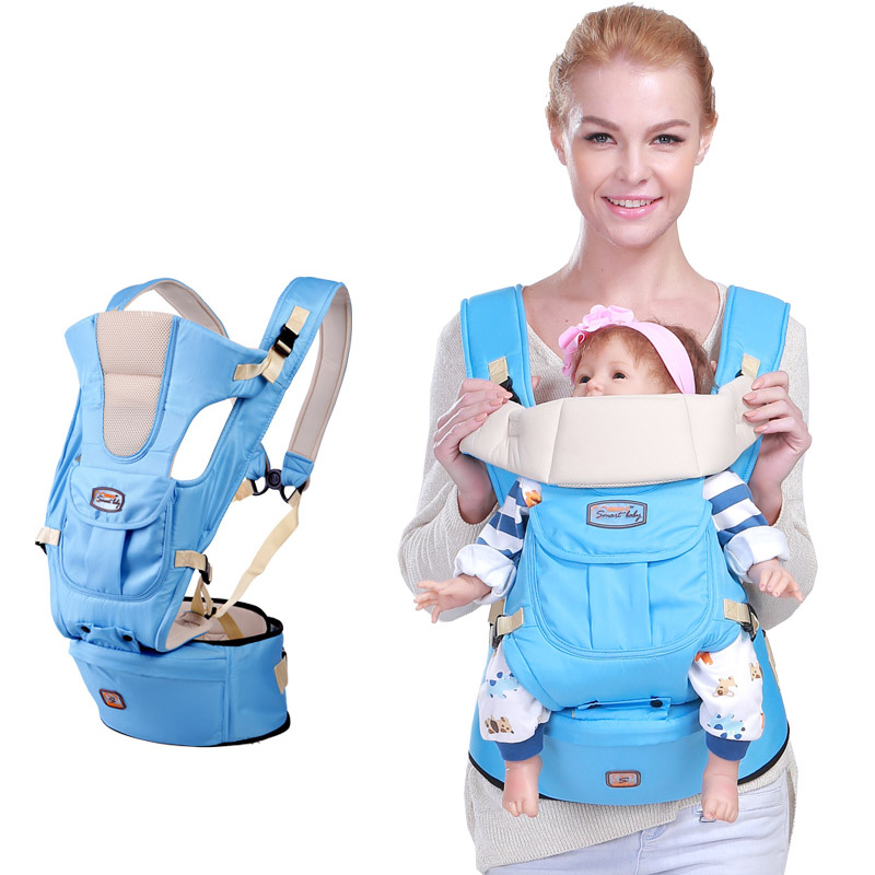 Backpacks Carriers Baby Carrier Infant Toddler Sling Bag Gearw Hipseat Wrap Newborn Cover Coat Babies cotton infant baby multi function portable comfortable cotton baby carrier sling bag deep blue white