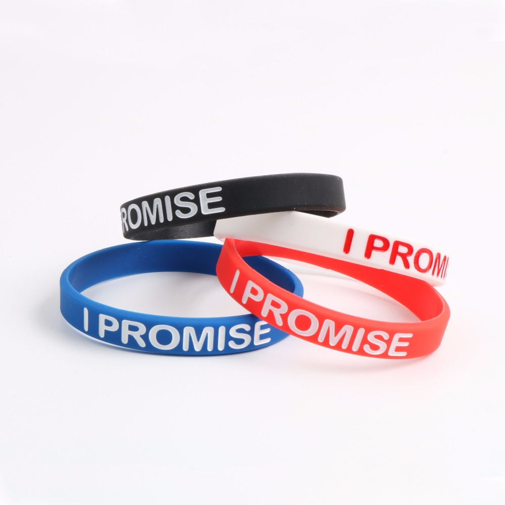 c6e3e1aec82 I PROMISE Bracelet Silicone LeBron James Basketball Wristband 4 Colors for  Choose Men s Pulseira-in Charm Bracelets from Jewelry   Accessories on ...