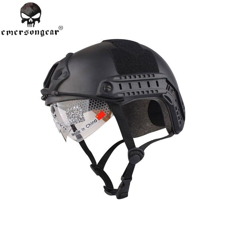 Prix pour EMERSON Casque RAPIDE Avec Protection Goggle MH Type Noir EM8820B livraison gratuite