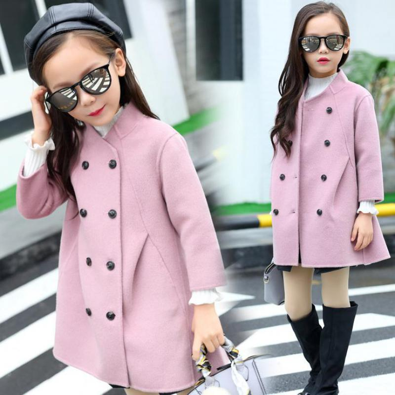 2017 Winter Costume Girls Coats Children Jacket Warm Kids Outerwear Girls Pink Coat Christmas Girls Clothes Wool Coat For Girls children winter coats jacket baby boys warm outerwear thickening outdoors kids snow proof coat parkas cotton padded clothes
