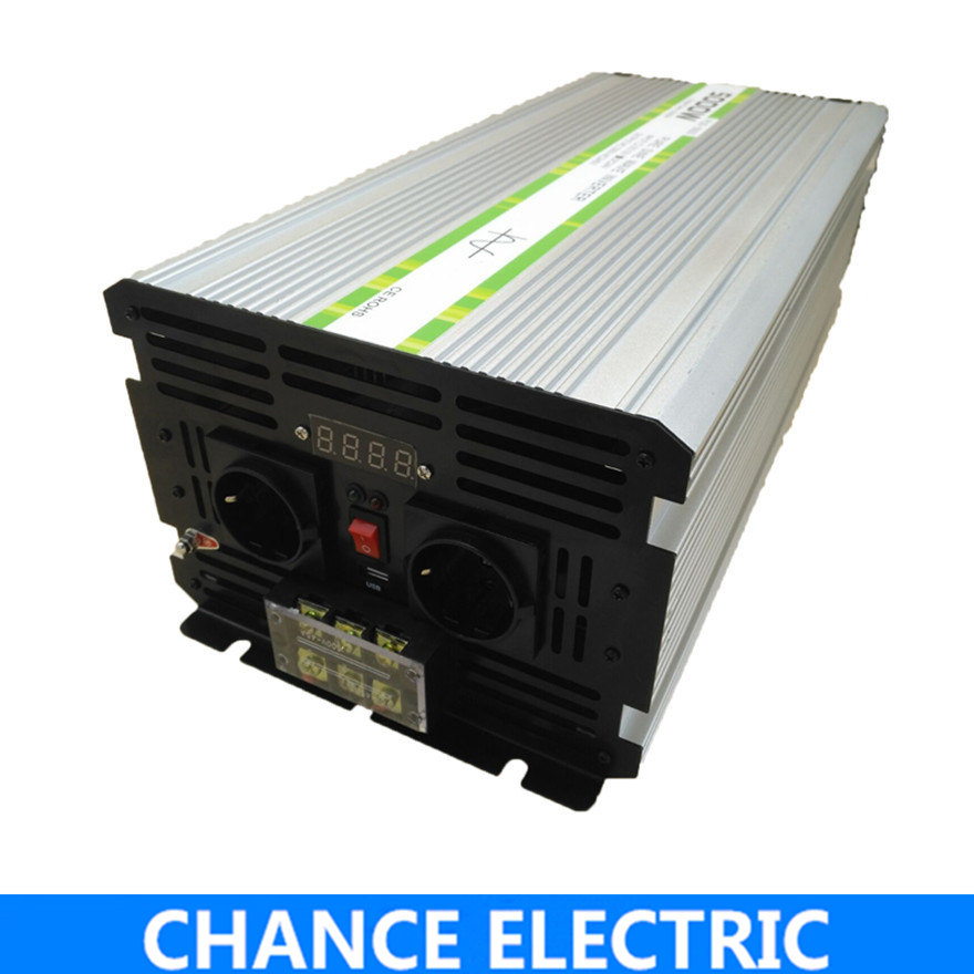 5000W/10000W Pure Sine Wave Inverter DC 12V 24V 48V to AC 110V 220V,Off Grid Inversor Portable 5000W/10000W Power Inverter