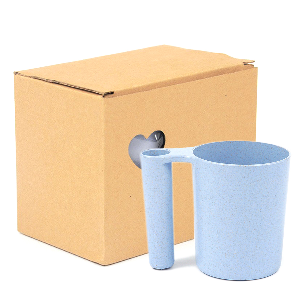 Creative Home New Products Wheat Straw Cup Bathroom Tumblers Portable Toothbrush Holder Mouthwash Cup