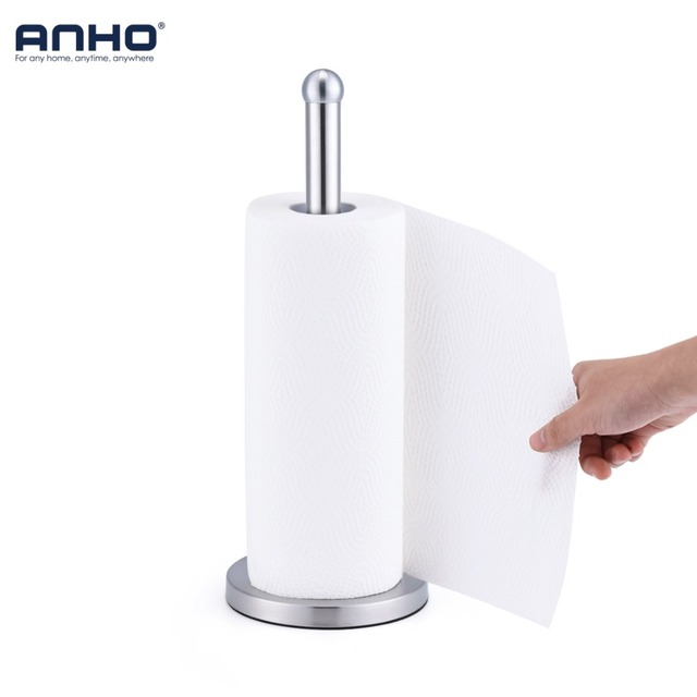 Stainless Steel Kitchen Roll Paper Holder Bathroom Toilet Stand Tissue Napkins Rack Home Accessories Tool Table