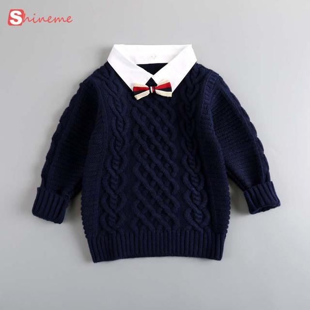Nuevo Invierno Niños de La Manera caliente suave cómodo Bebé Capa Gruesa de Punto de Cuello Alto Suéter de Las Muchachas de Suéter Outwear