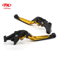 CNC Adjustable Motorcycles Brake Clutch Levers Folding Extendable Advailable Lever For Kawasaki KLR650 1987 2007 1987