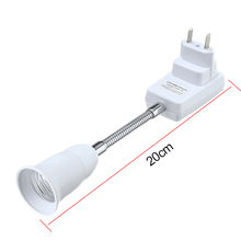 1 шт. E27 светильник лампа гнездо подключения адаптер удлинитель конвертер настенный держатель винт разъем США/ЕС разъем 20 см-50 см лампа bpt