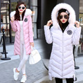 2016 Down Solid Real Winter Jacket Women's Coat In The Long Section Of Students' Self-cultivation And Thick Hooded All-match
