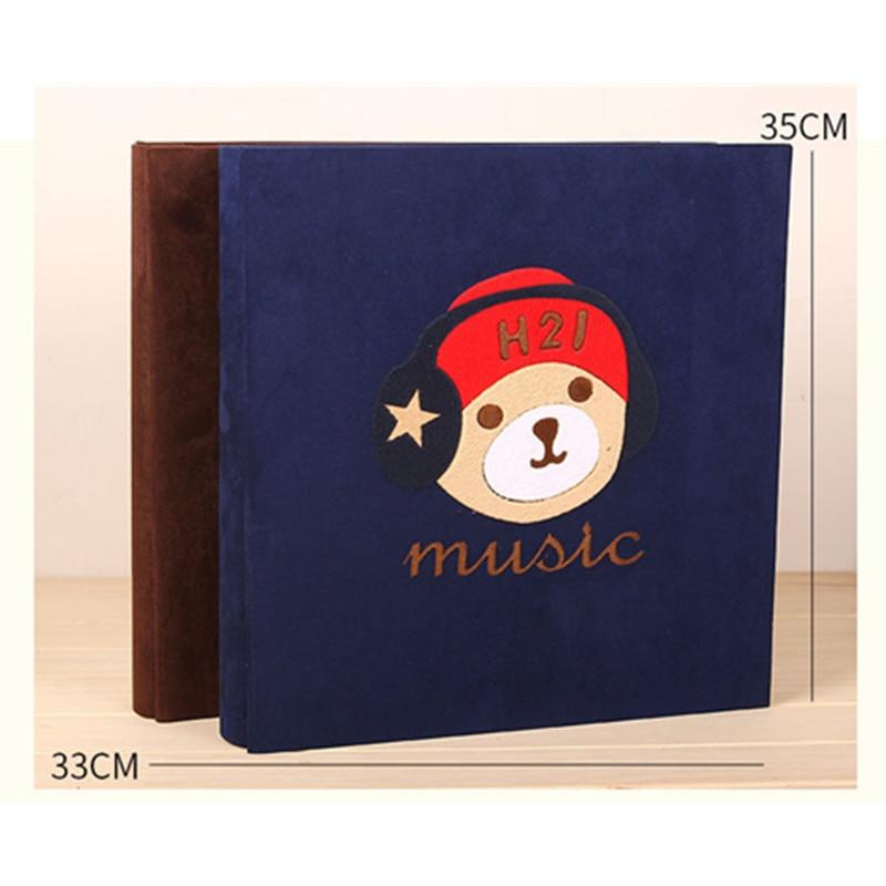 Tissu Art inséré Album Photo famille bébé amoureux grande capacité Memorial 5 pouces 6 pouces 7 pouces Album Photo