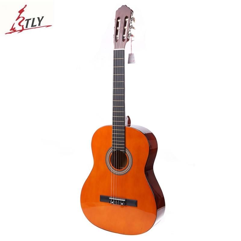 "Guitarra clásica de alta calidad de 39 ""Basswood, 6 cuerdas, para principiantes, Guitarra con paquete de espuma"