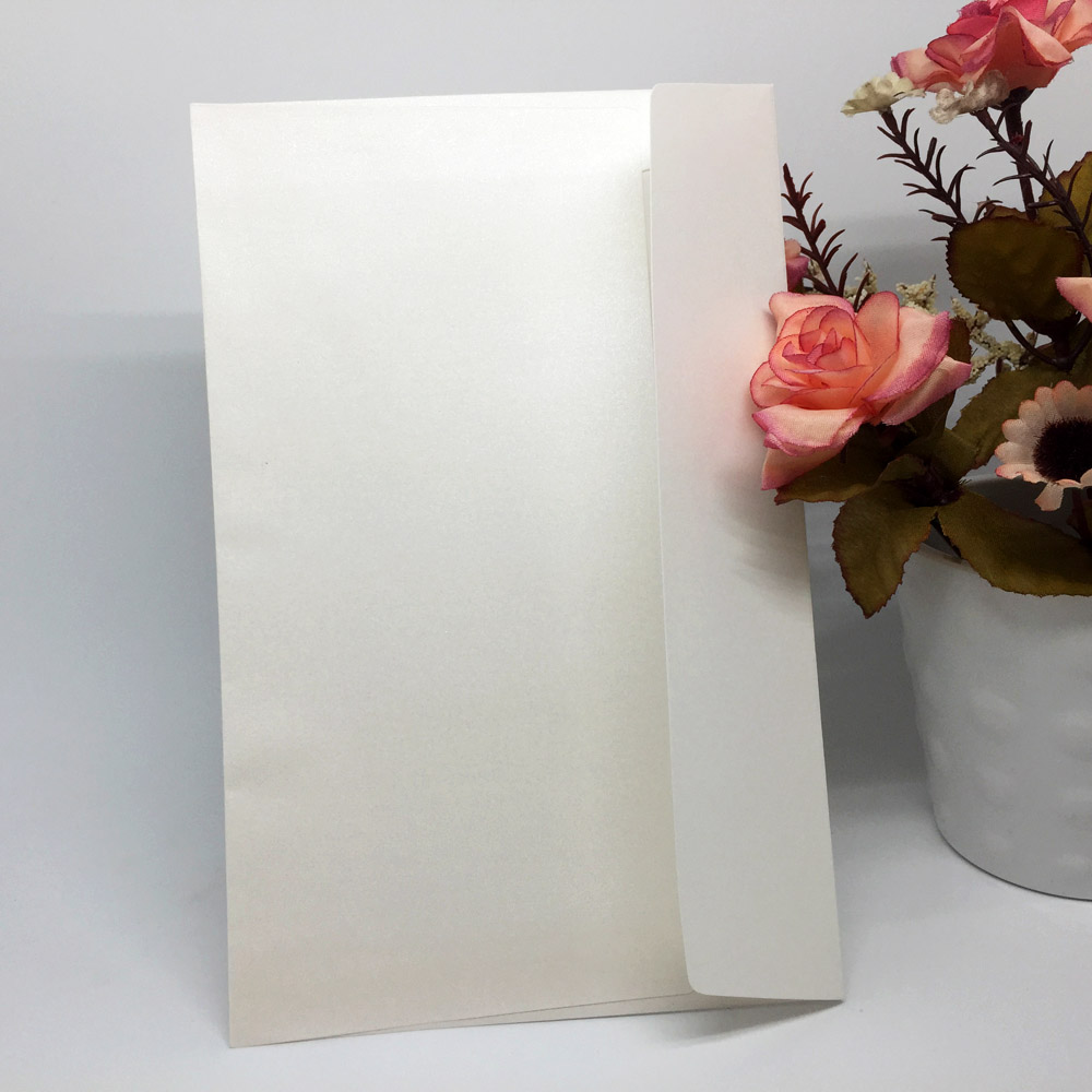 20Pcs/set White Iridescent Paper Wedding Invitation Card Envelope ...