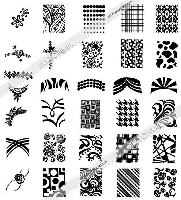 212 Designs 331215cm Big Size Konad Nail Art Stamping Image Plate