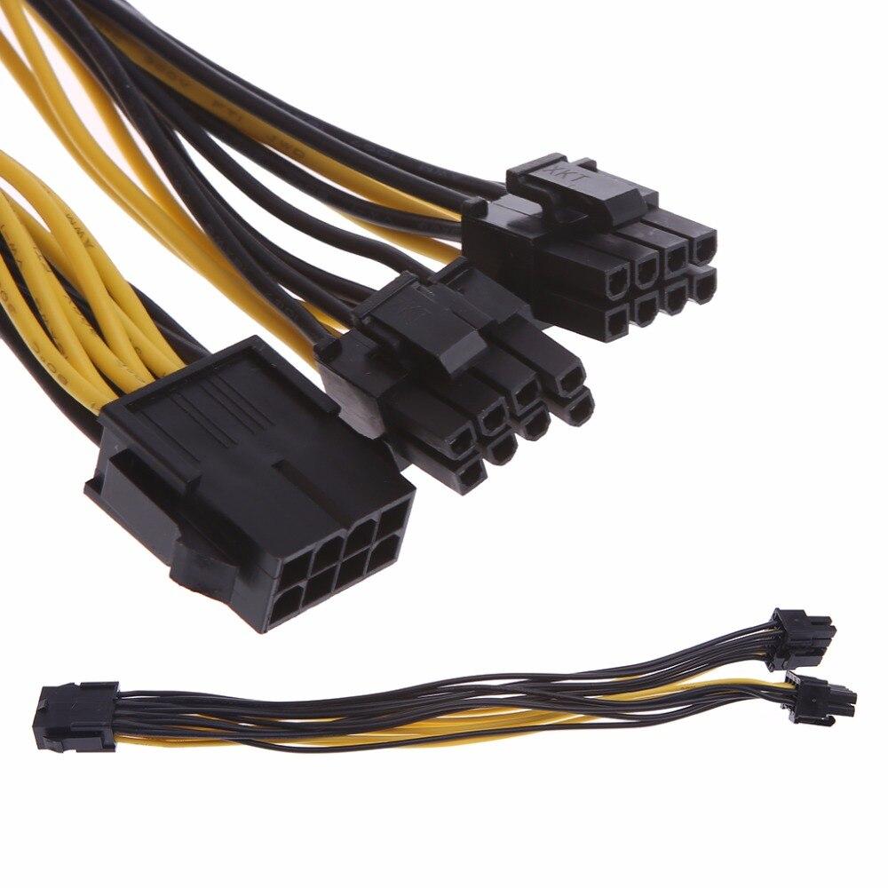 8-контактный CPU двойной PCI-E 8-контактный (6P + 2P) сплиттер Кабель питания Шнур 25 см для компьютера DIY