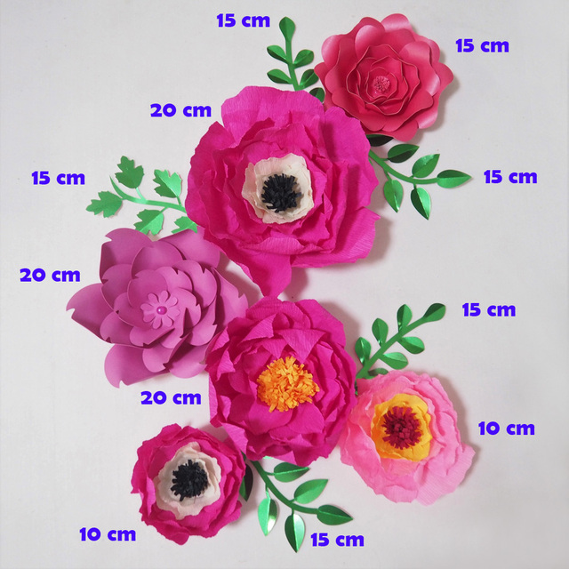 2018 giant crepe paper flowers artificial flores artificiale 6pcs 5 2018 giant crepe paper flowers artificial flores artificiale 6pcs 5 leaves for wedding event backdrop mightylinksfo