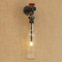Industriële loft wandlamp Glazen kap ijzer roest Indoor wandlamp met G4 licht slaapkamer bed licht foyer decoratie Blaker