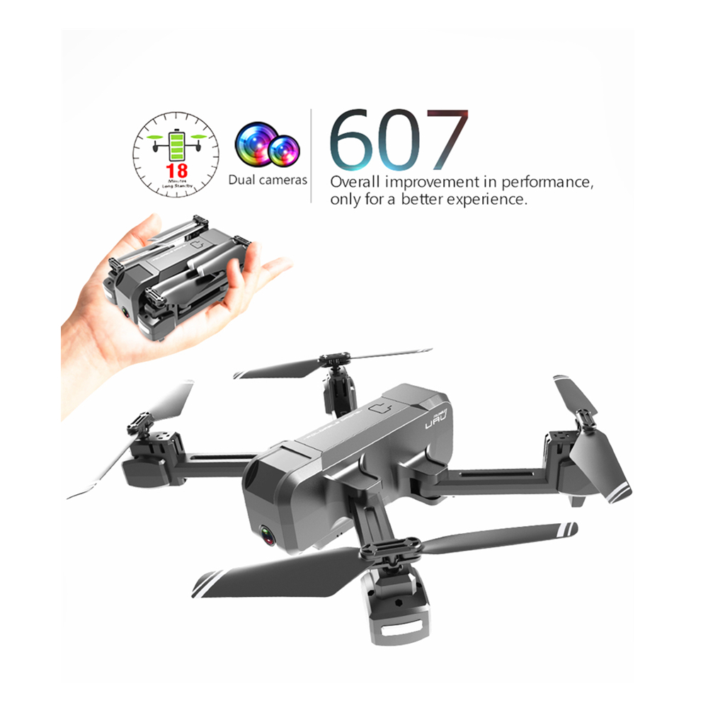 KF607 Quadcopter with Wifi FPV 4K/1080P HD Dual Camera Optical Flow Selfie Drone Foldable Mini Drone