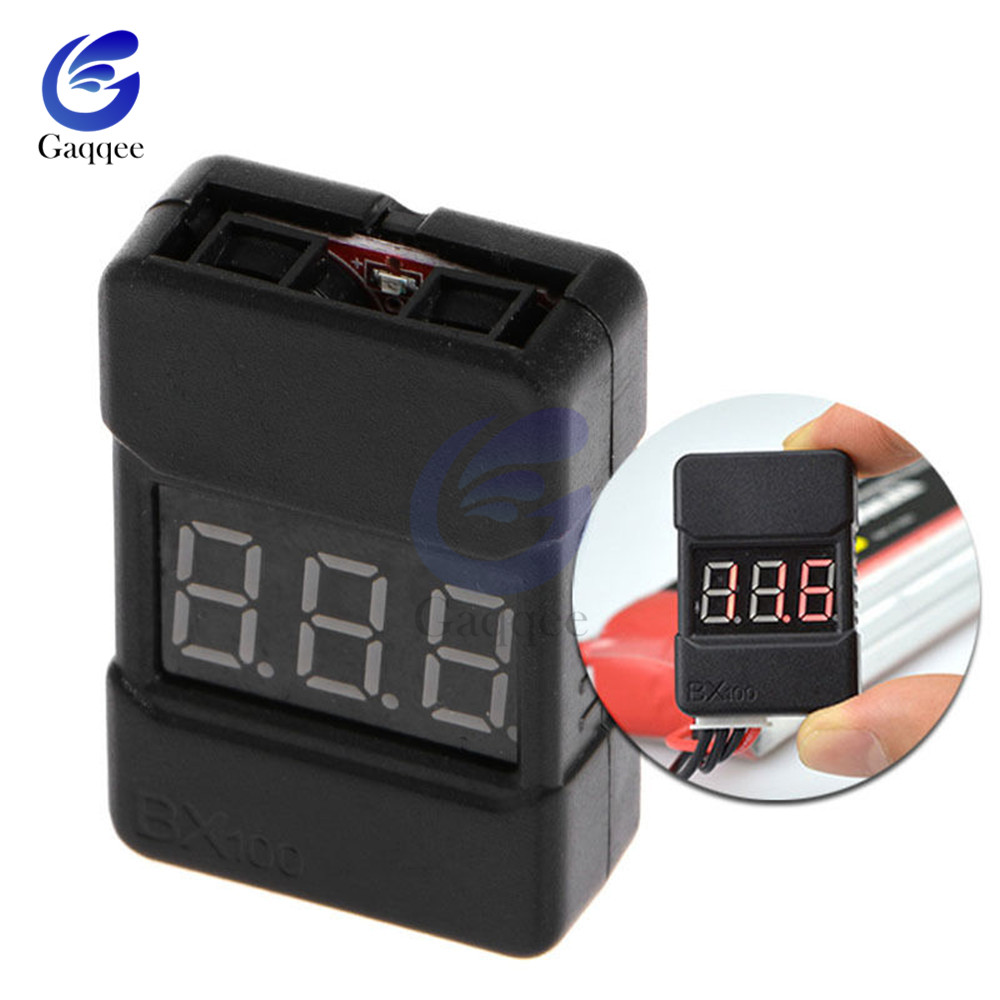 BX100 1-8S 1S-8S Lipo Battery Voltage Tester / Low Voltage Buzzer Alarm / Battery Voltage Checker With Dual Speakers