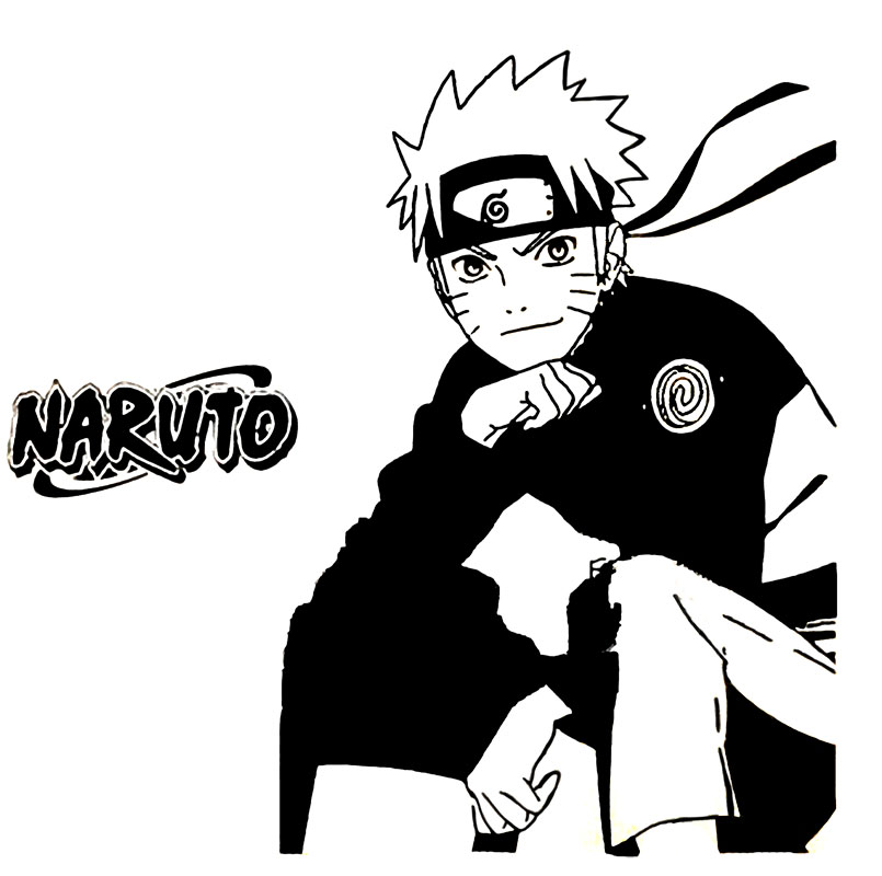 Cartoon naruto art wall sticker japanese cartoon anime for Mural naruto