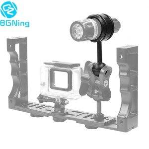 Image 1 - Camera Duiken Handheld Licht Arm Onderdelen Ball Hoofd Zaklamp Clip DSLR Sport Camera Onderwater Fotografie Accessoires