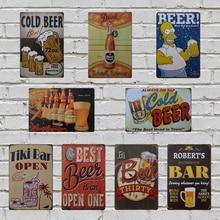 La mejor cerveza es abrir una pared publicitaria Poster Metal lata con letrero para bar Club Home afiche para galería placa Vintage decoración placa