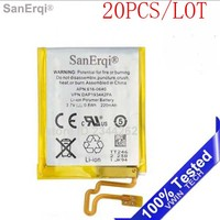 SanErqi 20pcs/lot New Tested 220mAh Li ion Battery Replacement for iPod Nano 7 7th Gen
