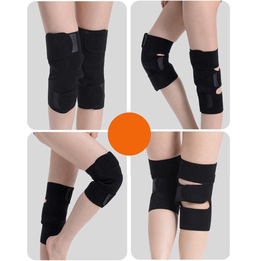 100 par/pack cinturón de turmalina autocalefactor rodillera terapia magnética rodilla soporte de turmalina cinturón calefactor masajeador de rodilla - 3