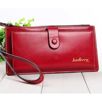 European Style Top Grade Women Wallets Solid Leather Hasp Zipper Clutch Female Mobile Bags Money Purse