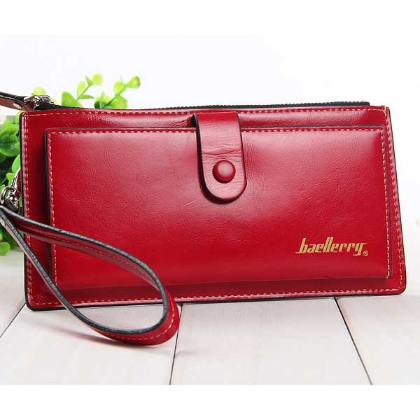 European Style Top Grade font b Women b font font b Wallets b font Solid Leather