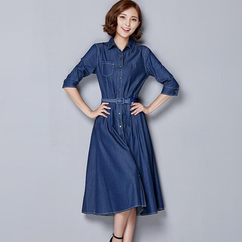 You searched for: long denim dress! Etsy is the home to thousands of handmade, vintage, and one-of-a-kind products and gifts related to your search. Women's Long Sleeve Denim Flare Bottom Modest Mid Length Dress POSHblu. 5 out of 5 stars (11) $ Favorite Add to See similar items + More.